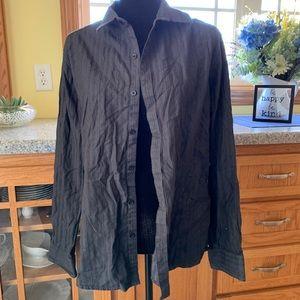 Marc Anthony black variation stripe dress shirt